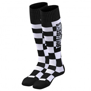 Moto ponožky TroyLeeDesigns GP MX Coolmax Thick Sock Checkers Black