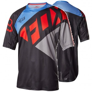 MTB dres FOX Demo SS Seca Jersey Grey Red 2017