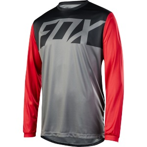 MTB dres FOX Ranger LS Jersey Graphite Red 2017