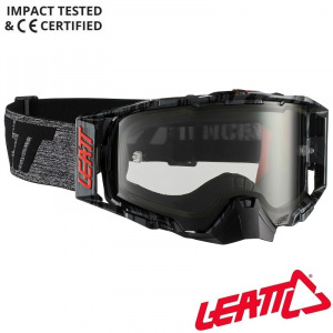 MX brýle LEATT Velocity 6.5 Brushed Grey