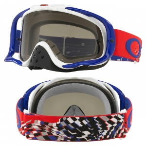 MX brýle Oakley Crowbar Checked Finish Red White Blue