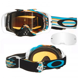 MX brýle Oakley Crowbar Glitch Blue Orange Black Iridium + Clear Lens