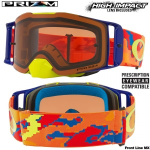 MX brýle Oakley Front Line MX Thermo Camo Orange Red Prizm Bronze Goggle