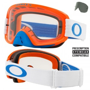 MX brýle Oakley O2 MX Blue Orange Grey + Clear Lens
