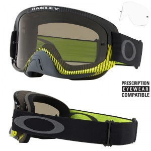 MX brýle Oakley O2 MX Frequency Gunmetal Green Grey + Clear Lens