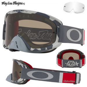 MX brýle Oakley OFrame 2.0 MX TroyLeeDesigns Low Vis Grey Dark Grey + Clear Lens