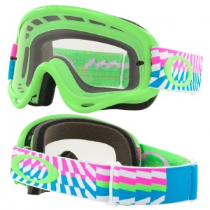 MX brýle Oakley Oframe Braking Bumps Green Pink