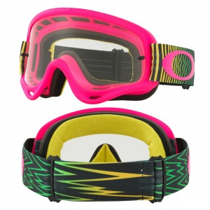 MX brýle Oakley Oframe Shockwave Flo Pink Yellow Green