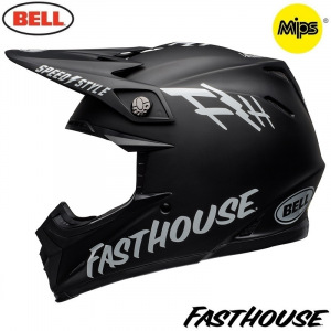MX helma BELL Moto-9 MIPS Fasthouse FH Crew Black 2019