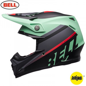 MX helma BELL Moto-9 MIPS Prophecy Matte Green Infrared Black 2020 + brýle zdarma
