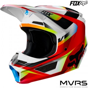 MX helma FOX V1 Motif Helmet Red White 2019