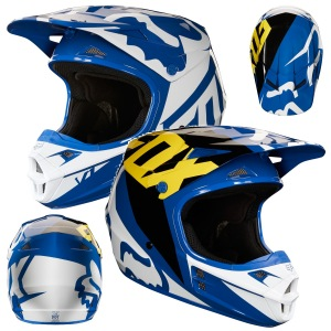 MX helma FOX V1 Race Helmet Blue 2018
