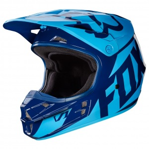 MX helma FOX V1 Race Helmet Navy 2017