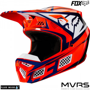 MX helma FOX V3 Idol Helmet Orange Blue 2020