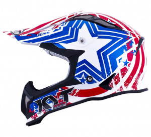 MX helma KYT Strike Eagle Patriot Blue Red