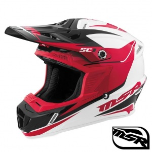 MX helma MSR SC1 Helmet Phoenix White Red Black 2017