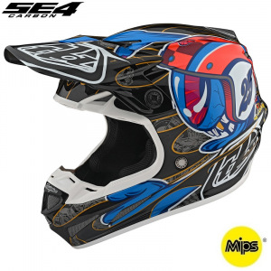MX helma TroyLeeDesigns SE4 Carbon Eyeball Black Red 2020 + brýle zdarma