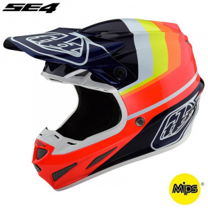 MX helma TroyLeeDesigns SE4 Carbon Mirage Blue Red 2019 + brýle zdarma