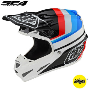 MX helma TroyLeeDesigns SE4 Composite Mirage White Black 2020