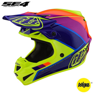 MX helma TroyLeeDesigns SE4 Polyacrylite Beta Yellow Purple 2020