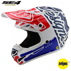 MX helma TroyLeeDesigns SE4 Polyacrylite Factory White Blue 2020