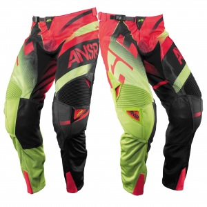 MX kalhoty ANSWER Alpha AIR Pant Red Acid 2017
