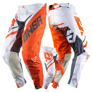 MX kalhoty ANSWER Elite Pant Orange Grey 2018