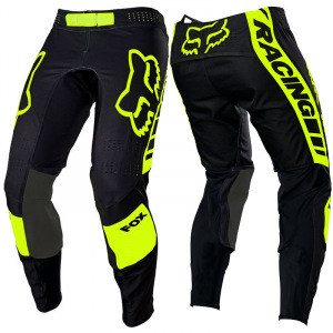 MX kalhoty FOX FlexAir Mach One Pant Black Yellow 2021