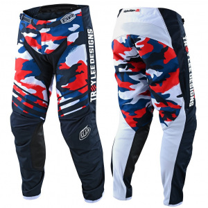 MX kalhoty TroyLeeDesigns GP Pant Formula Camo Navy Red Limited Edition 2021