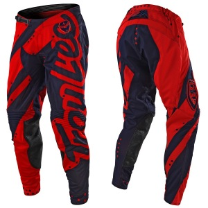 MX kalhoty TroyLeeDesigns SE Air Pant Shadow Red Navy 2018