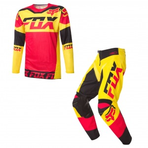 MX komplet FOX 180 Jersey + Pant Mako Yellow 2016