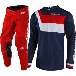 MX komplet TroyLeeDesigns GP Air Prisma Navy Red  2018