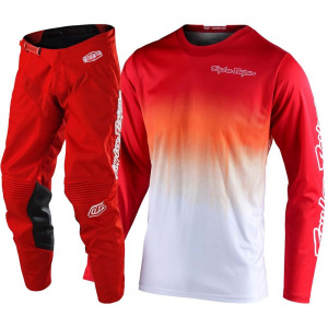 MX komplet TroyLeeDesigns GP Stain´D Red White Set 2020