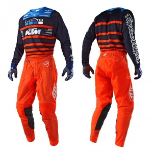 MX komplet TroyLeeDesigns SE AIR Streamline Team Navy Orange 2018