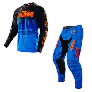 MX komplet TroyLeeDesigns SE Starburst LE KTM Blue Orange 2016