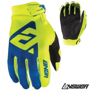 MX rukavice ANSWER AR-1 Glove Yellow Blue 2018