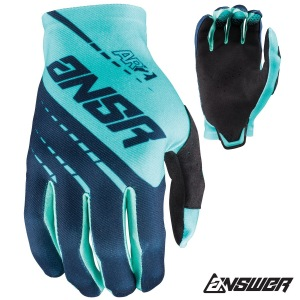 MX rukavice ANSWER AR-2 Glove Navy Teal 2018