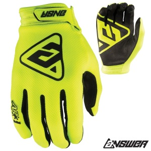 MX rukavice ANSWER AR-3 Glove Neon Yellow 2018