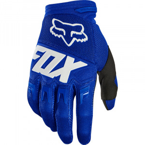 MX rukavice FOX Dirtpaw Race Glove Blue White 2020