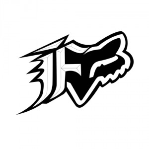 "Nálepka FOX Racing F-head Sticker 4"" Black"