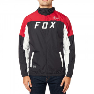 Pánská bunda FOX Moth Windbreaker Jacket Black Red