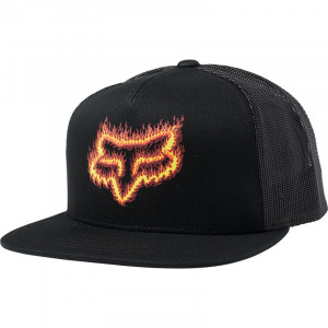 Pánská čepice FOX Flame Head SnapBack Hat Black Orange