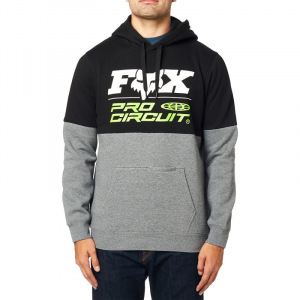 Pánská mikina FOX ProCircuit Pullover Fleece Black Graphite