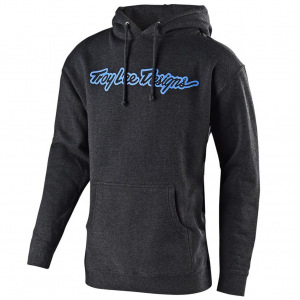 Pánská mikina TroyLeeDesigns Signature Pullover Hoodie Heather Charcoal