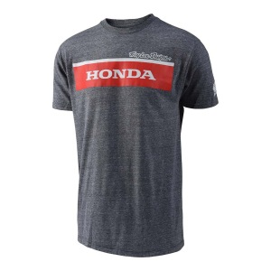 Pánské tričko TroyLeeDesigns Honda Wing Block Tshirt Heather Grey 2019