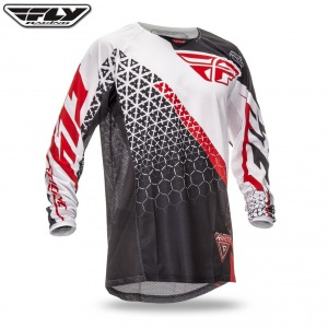 Pánský dres FLY Kinetic Jersey Trifecta Black White Red 2016