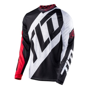 Pánský dres TroyLeeDesigns GP Jersey Quest Red White Black 2017