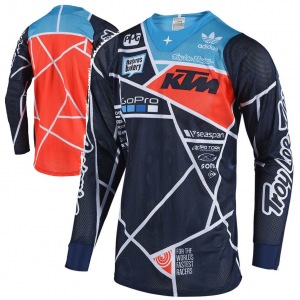 Pánský dres TroyLeeDesigns SE AIR Jersey Metric Team KTM Navy Orange 2018