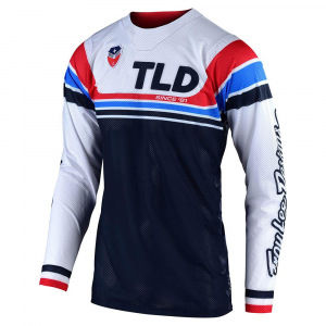 Pánský dres TroyLeeDesigns SE AIR Jersey Seca White Dark Navy 2020