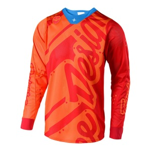 Pánský dres TroyLeeDesigns SE AIR Jersey Shadow Honey Red 2019